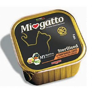 Δισκάκι MIOGATO Adult Sterilized chicken carrots 100gr