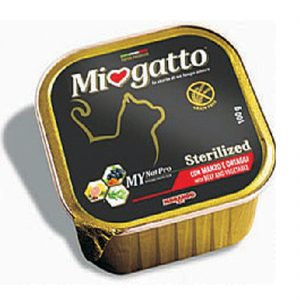 Δισκάκι MIOGATTO Adult Sterilized beef 100gr